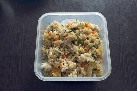 Thai cuisine ,fried rice with crab 写真素材