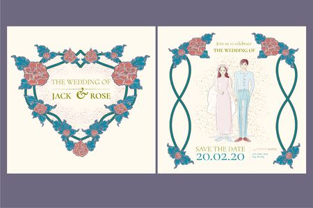 Wedding invitation card template wedding cards