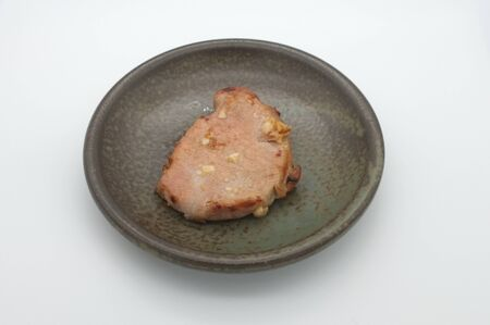 Deep fried pork with garlic and salt Standard-Bild