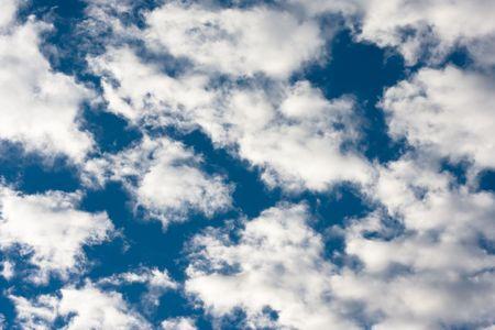 clouds in a bright blue sky