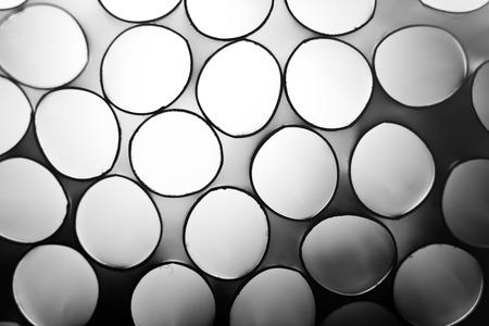 straws: Black and white straws macro