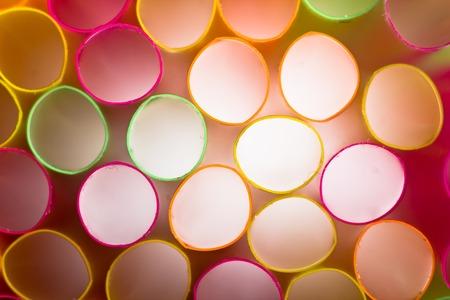 straws: Colored straws macro background