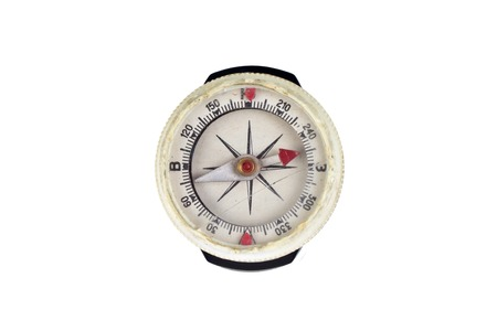 oft: Close up view oft the old compass