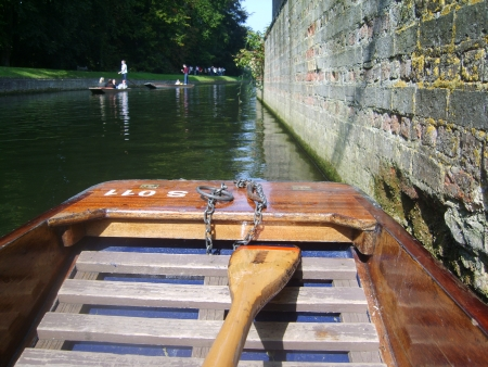 punting: Punting boat on river Editorial