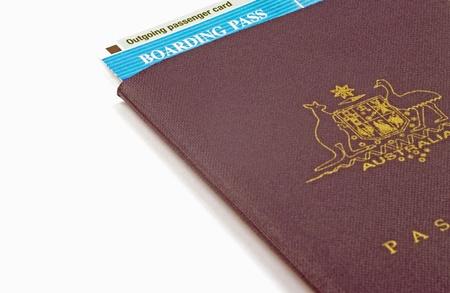 Passe de passeport et d'embarquement Banque d'images - 11578570