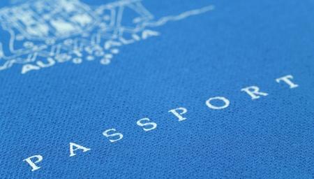 blue australian passport Stock Photo