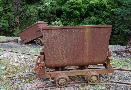 old mining railway wagon photo