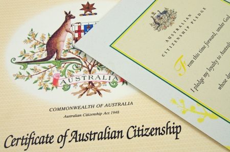 citizenship: australian citizenship certificates