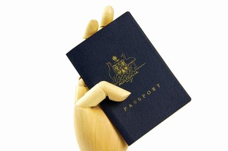 immigrate: passport and hand
