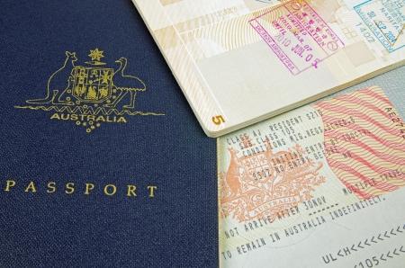 passeport: timbres de visa de passeport et de l'immigration