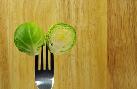 brussel: brussel sprout and fork