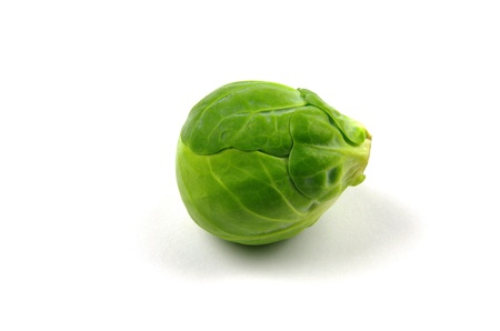 brussel sprout on white background  Stock Photo
