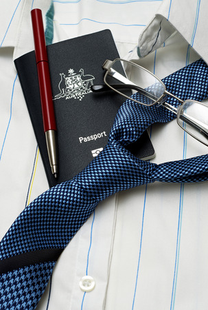 business travel: business travel items  Stock Photo
