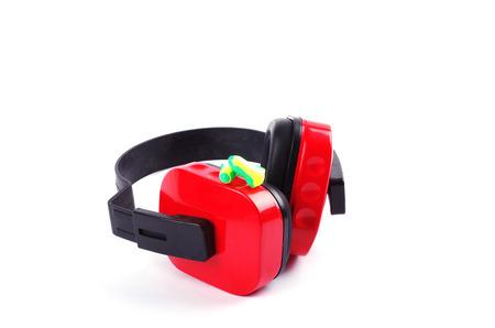 foam safe: ear protectors and ear plugs  Stock Photo
