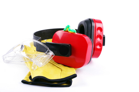 ear protection: protective safety gear  Stock Photo