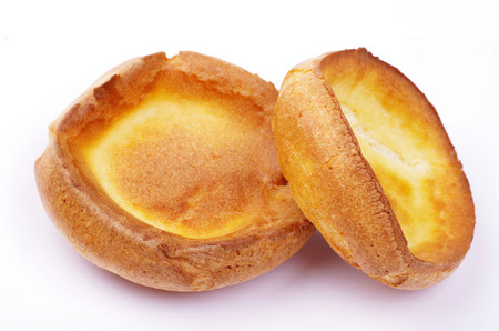 two yorkshire puddings Stock Photo