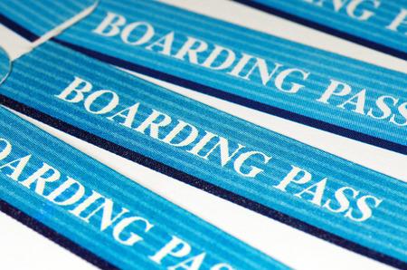Bleu embarquement Voyage passe Banque d'images - 46860253