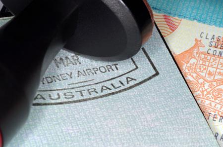 Passeport immigration australian Banque d'images - 46860255