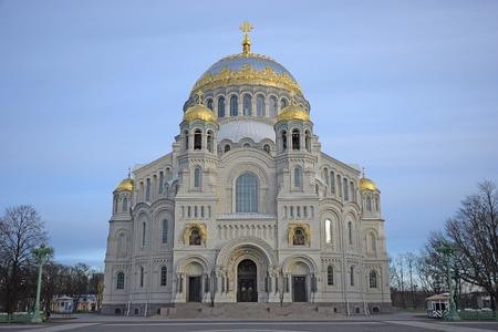 nicholas: Marine Nicholas Cathedral in Kronstadt in winter Stock Photo