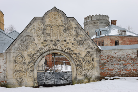 theodore: The old gate of the town of Theodore in Pushkin, the Academic prospect 18, St Petersburg