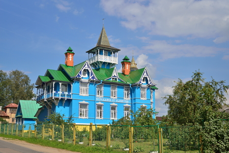 The building of the Church-commune societies Brother John Churikov in Vyritsa in the summer. Russia .