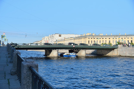 Semyonov bridge over the Fontanka river  in Saint-Petersburg