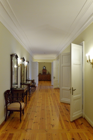 petrovich: PUSHKINSKIYE GORY, RUSSIA - MAY 18, 2016: The interior and the interior of the House-Museum of Pyotr Abramovich and Benjamin Petrovich Hannibal of the state Museum-reserve of A. S. Pushkin - Petrovskoe