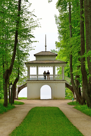 petrovich: Gazebo at the manor the house-Museum of Peter Abramovich and Benjamin Petrovich Hannibal of the State Museum-reserve of A. S. Pushkin - Petrovskoe