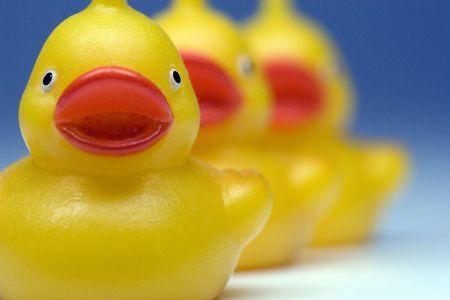 Plastic bath ducks