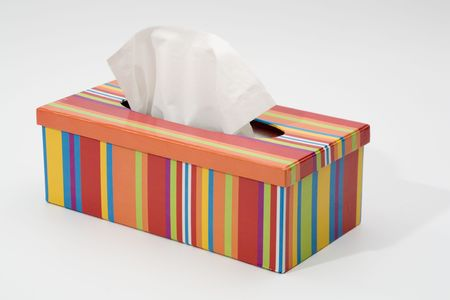 Colorfull tissue box Stock Photo