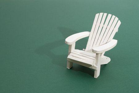 A white deck chair Stock Photo