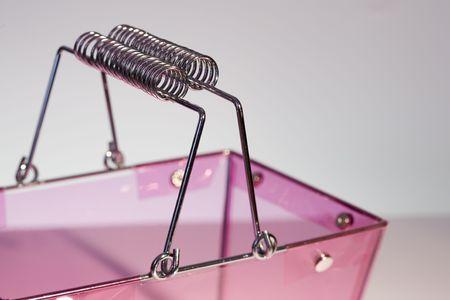 deatil: Pink transparent basket