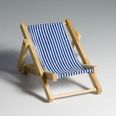 Blue and white beach chair Stock Photo