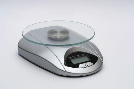 Modern silver kitchen scales