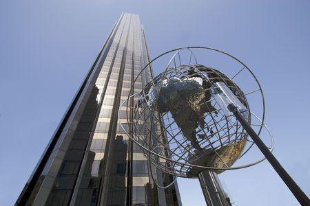 Skycrapers at Broadway and Columbus Cicle. Manhattan, New York