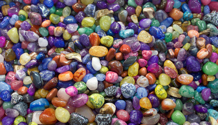 red pebble: Brightly Colored Pebbles and Stones