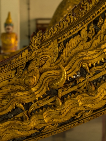 Golden Naga, prow of a ship photo