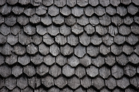 moulder: Old wood roof tiles Stock Photo