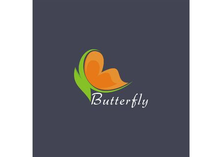 Modern abstract minimalist butterfly icon