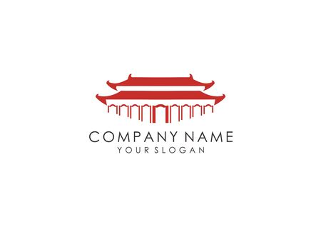 This logo is an illustration of a Chinese peoples house