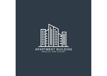 Simple logo vector apartment building Ilustração