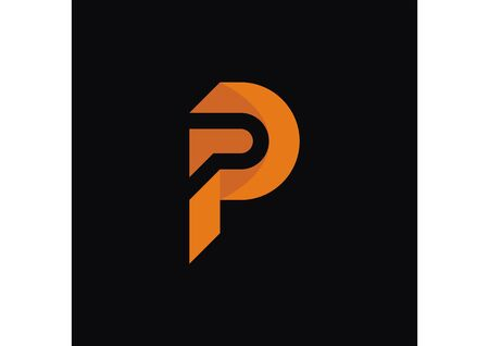 Initial p logo with modern style logo