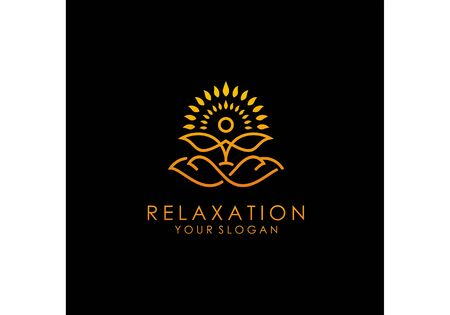 Logo of people's meditation vector Logo