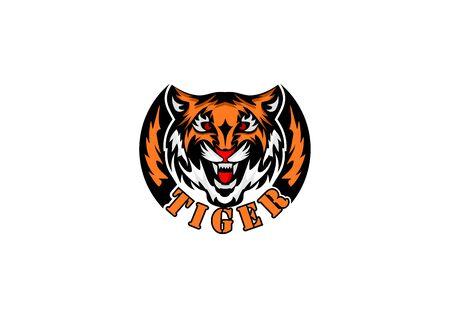 Vector image of a ferocious tiger head