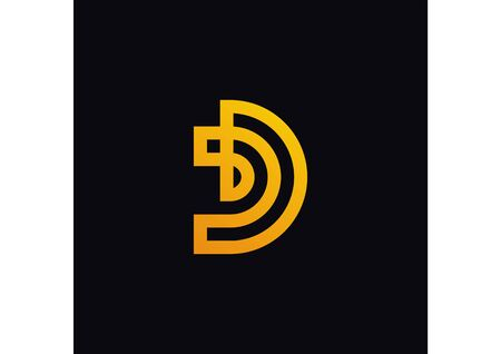 The initial logo d is simple with color gradations