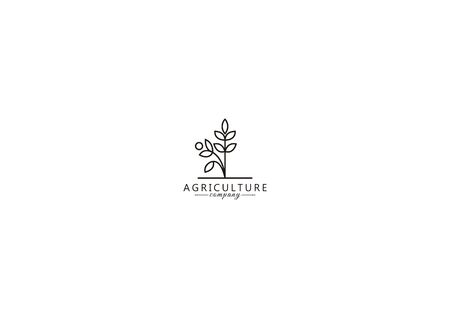 simple logos of plants that are growing in the agricultural industry
