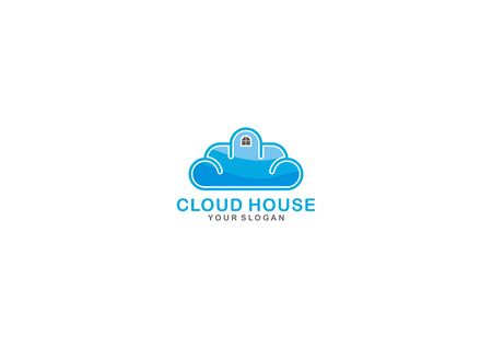 SIMPLE VECTOR LOGO CONCEPTS HOME AND CLOUD