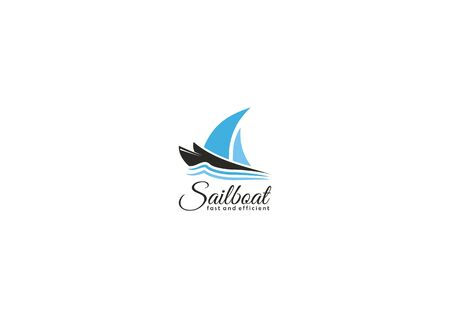 Simple sailing boat logo
