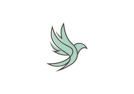 Bird vector with minimalist lines Ilustração