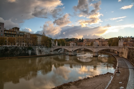 River Tiber in Rome photo